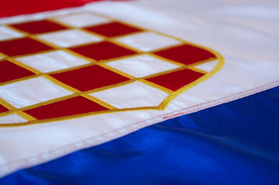 vezena hrvatska zastava
