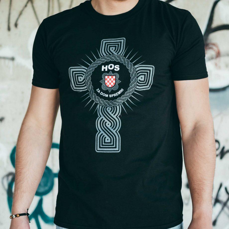 HOS majica križ pleter